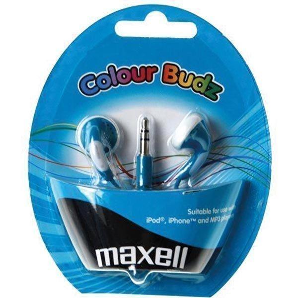 Maxell Colour Budz nappikuulokkeet sininen