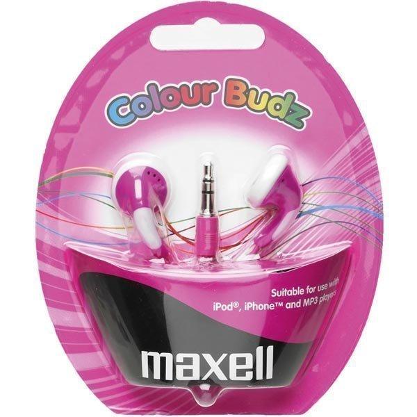 Maxell Colour Budz nappikuulokkeet vaal.pun./pinkki