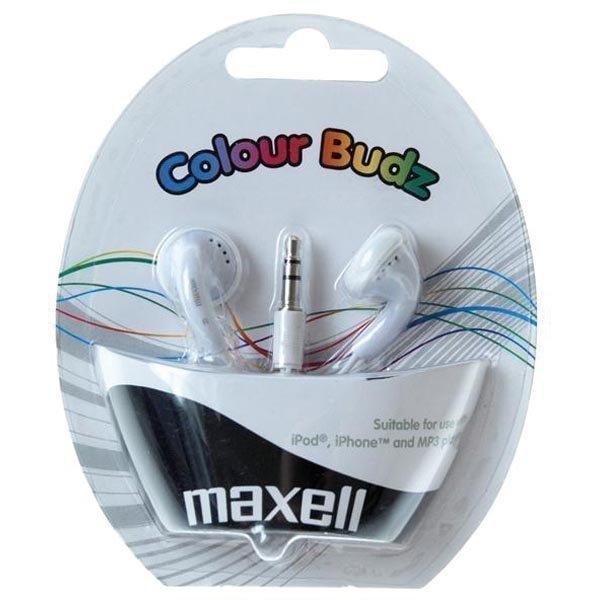 Maxell Colour Budz nappikuulokkeet valkoinen