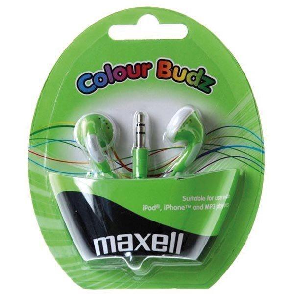 Maxell Colour Budz nappikuulokkeet vihreä