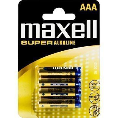 Maxell paristot AAA (LR03) Super Alkaline 1 5V 4-pakkaus