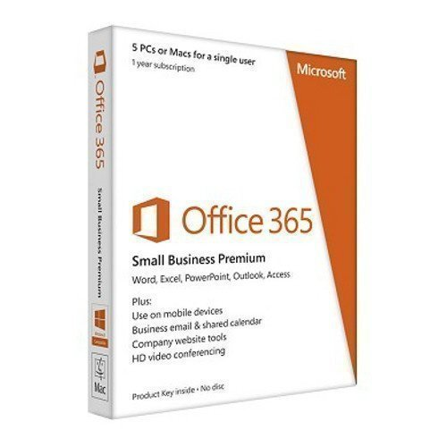 Microsoft Microsoft® Office 365 Small Business Premium 32-bit/x64 Swedish Subscription 1 Lic. Medialess 1 Year
