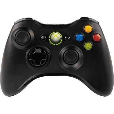Microsoft Xbox 360 langaton gamepad myös Windows-sopiva USB musta