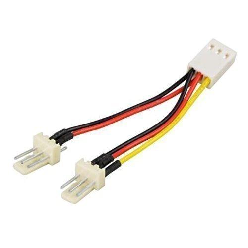 Modding-Acc Adapter för 3-pins fläktar Y-kabel 2-1