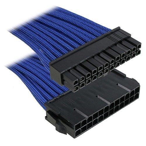 Modding-Acc BitFenix 24-Pin ATX Extension 30cm Sleeved Blue/Black