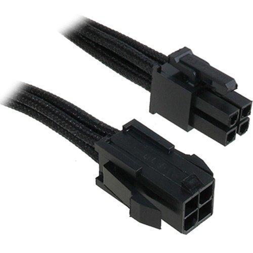 Modding-Acc BitFenix 4-Pin ATX12V Extension 45cm Sleeved Black/Black