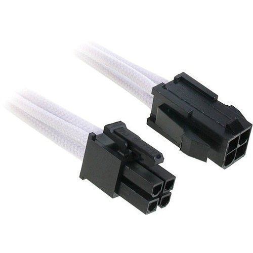 Modding-Acc BitFenix 4-Pin ATX12V Extension 45cm Sleeved White/Black