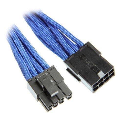 Modding-Acc BitFenix 6+2-Pin PCIe Extension 45cm Sleeved Blue/Black