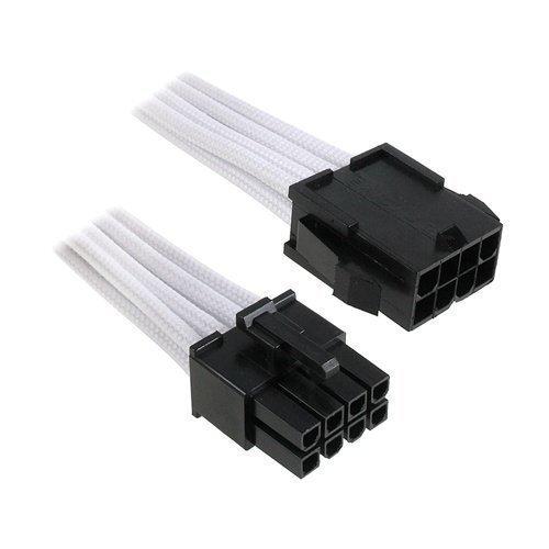 Modding-Acc BitFenix 8-Pin EPS12V Extension 45cm Sleeved White/Black
