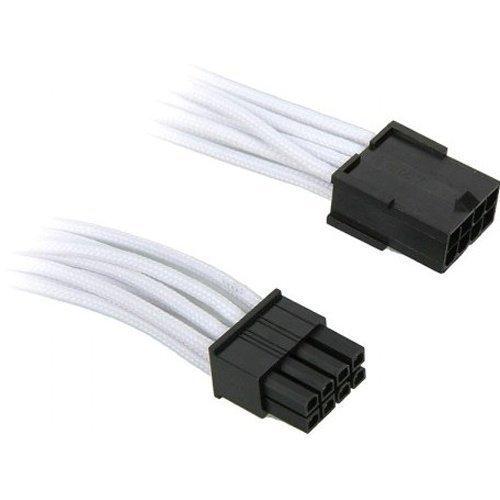 Modding-Acc BitFenix 8-Pin PCIe Extension 45cm Sleeved White/Black