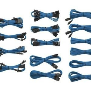 Modding-Acc Corsair 1200/860/760 Professional sleeved cables KIT Type3 Generation2 Blue