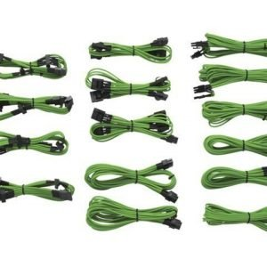 Modding-Acc Corsair 1200/860/760 Professional sleeved cables KIT Type3 Generation2 Green