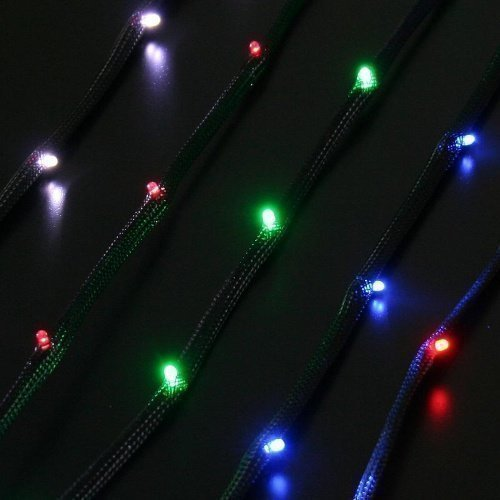 Modding-Acc NZXT Sleeved LED Kit Cable 1M Green