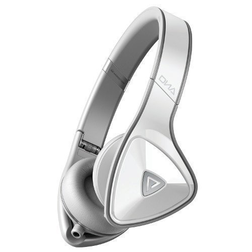 Monster DNA Headphones White Over Light Grey On-Ear