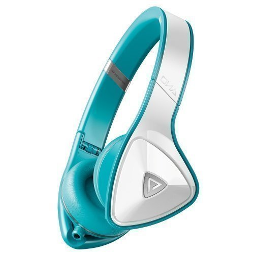 Monster DNA Headphones White Over Teal On-Ear