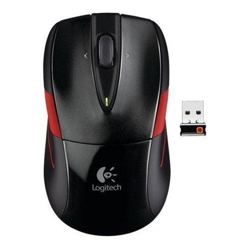 Mouse Logitech Wireless Mouse M525 Black & Red