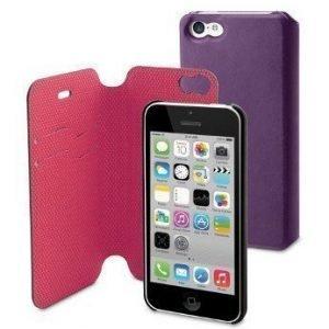 Muvit Magic Folio Wallet for iPhone 5C Purple