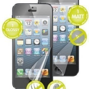 Muvit Screen Protector for iPhone 5 1 Matte & 1 Clear
