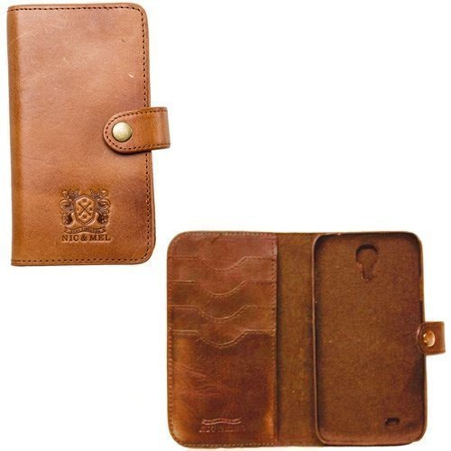 Nic & Mel Wester Wallet for Galaxy S4 Cognac