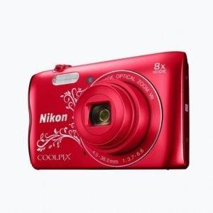 Nikon Coolpix A300 Punainen Jossa Kuvio Kamera