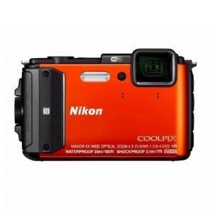 Nikon Coolpix Aw130 Oranssi Kamera