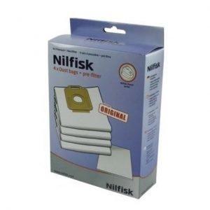 Nilfisk Pölypussit Power/Select/Classic 4 kpl