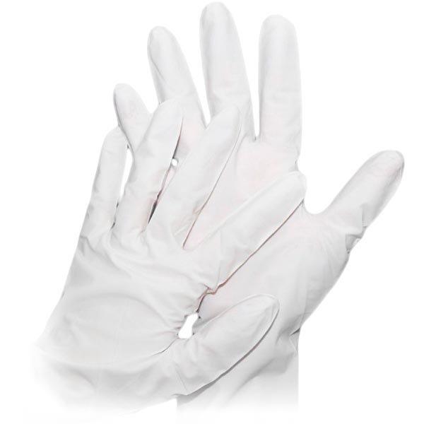 Nitriilikäsine puhdastiloihin puuteriton ISO 5-6 valkoiset 50-pak