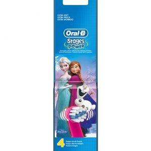 Oral-B Stages Frozen Vaihtoharjat 4 Kpl