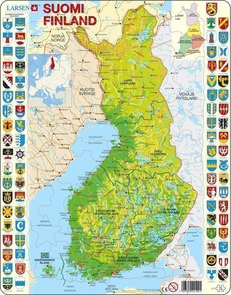 Palapeli Suomen Kartta Kodinkonekauppa24 Fi