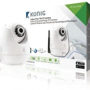 Panoroiva-kallistuva IP-kamera videoetävalvontaan sisätiloihin valkoinen