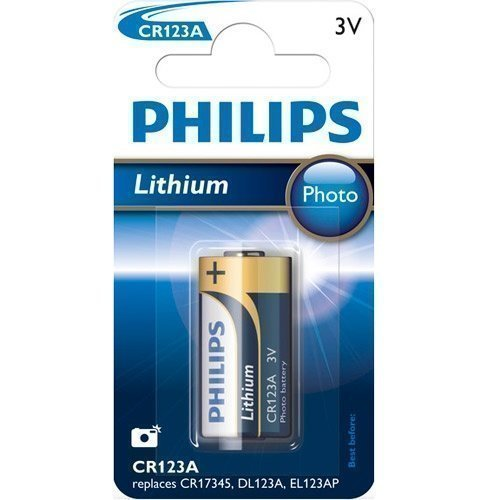 Philips 3V CR123A Lithium 1-pack