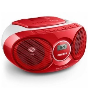Philips Az215 Cd Soundmachine Soitin Punainen