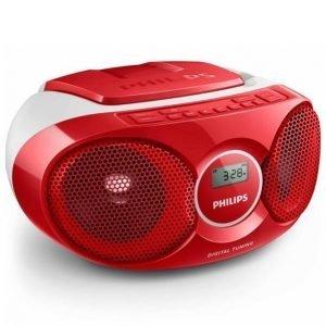 Philips Az215 Cd Soundmachine Soitin Punainen