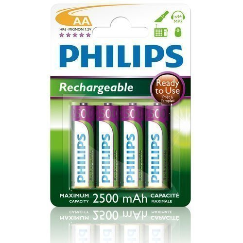 Philips NiMH Ready AA/2500 4-pack