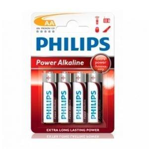 Philips Power Alkaline Aa Lr06 4-Pakkaus