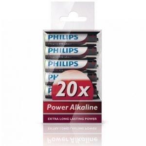 Philips Power Alkaline Aaa 20-Pakkaus