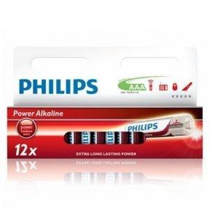 Philips Power Alkaline Aaa Paristot 12-Pakkaus