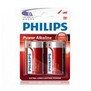 Philips Power Alkaline D Lr20 2-Pakkaus
