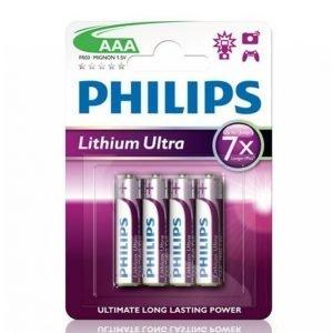 Philips Ultra Litium Fr03 4-Pakkaus