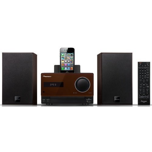 Pioneer X-CM31 Microsystem Brown iPod Docking