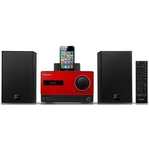 Pioneer X-CM31 Microsystem Red iPod Docking