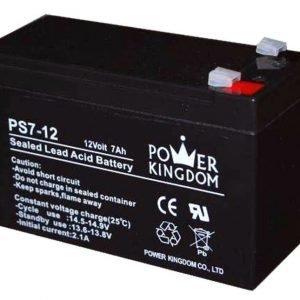 Power Kingdom 12V 7Ah lyijyhyytelö akku T2