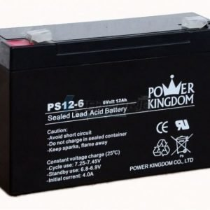Power Kingdom 6V 12 Ah lyijyhyytelö akku
