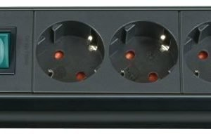 Premium-Line-jatkojohto 4-osainen musta H05VV-F 3G1 5