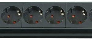 Premium-Line-jatkojohto 8-osainen musta H05VV-F 3G1 5