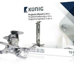 Projektorin teline 2-in-1 10 kg / 22 lbs hopea