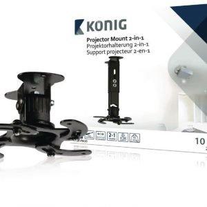 Projektorin teline 2-in-1 10 kg / 22 lbs musta