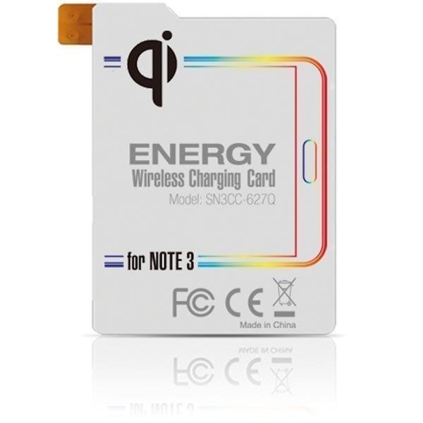 Qi Energy Card Samsung Galaxy Note 3 puhelimen langattomaan lataukseen