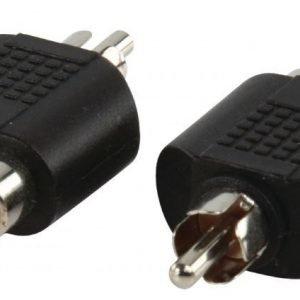RCA uros - 2x RCA naaras adapteri
