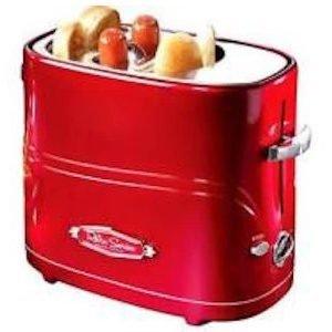 Retro Line Hot Dog Popup Paahdin Punainen / Kromi 650 W